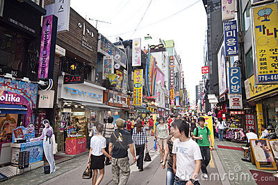 Myeongdong district in Seoul Editorial Photo