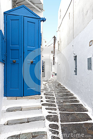 Mykonos island houses in Greece