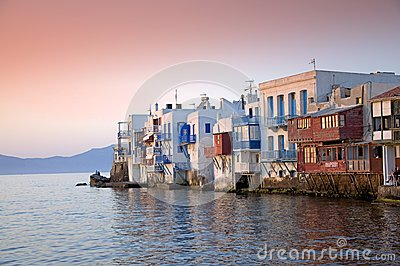 Mykonos, Little Venice Editorial Photography