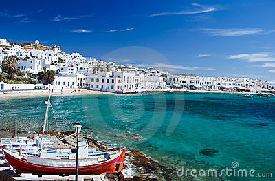 Mykonos Town Royalty Free Stock Images - Image: 11246909