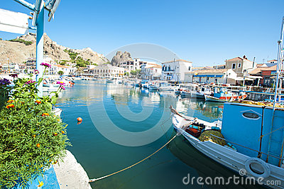 Myrina Limnos Greece Editorial Photography