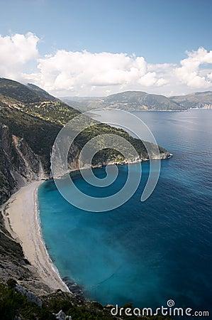 Free Myrtos Beach In Cephalonia Stock Photo - 2449260