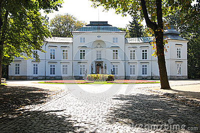 Myslewicki Palace . Warsaw. Poland.