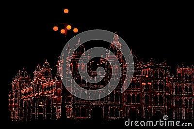 Mysore Palace In Dark-I