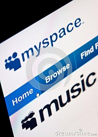 Myspace Editorial Stock Image