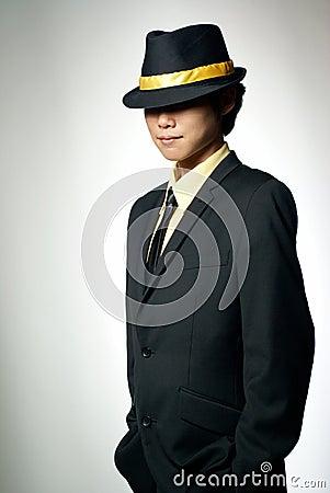 Mysterious asian mafia man