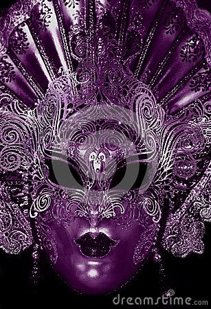 Free Mysterious Carnival Mask In Ultra Violet Color Stock Photos - 111970253