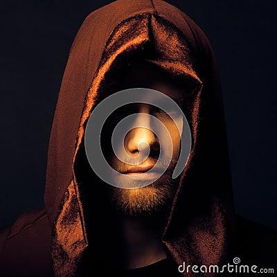 Free Mysterious Catholic Monk Royalty Free Stock Photos - 47853118