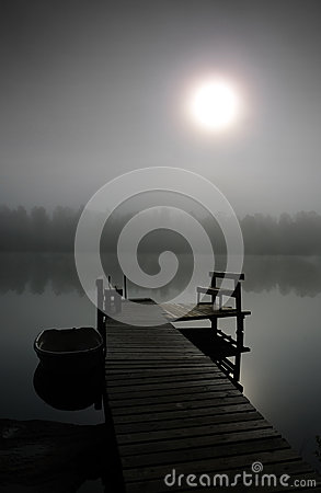 Mysterious foggy morning