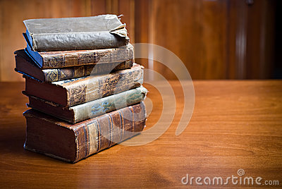 Mysterious looking anceint books.