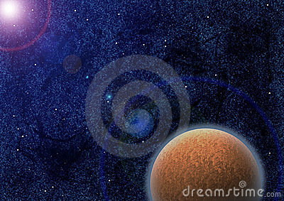 Mysterious planet in lens flare