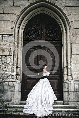 Free Mysterious Woman In Victorian Dress Stock Photos - 41481353