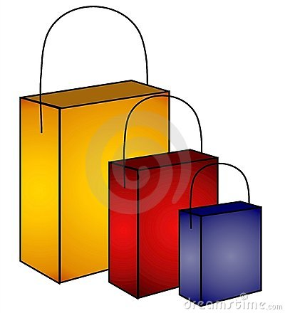 Mystery Shopping Bags Clip Art