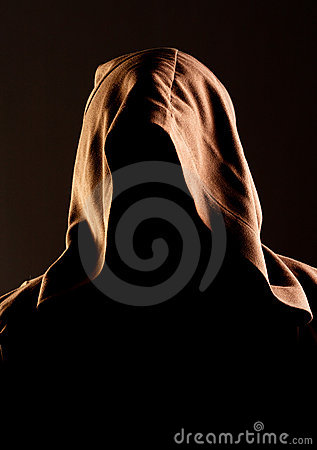 Free Mystery Unrecognizable Monk Stock Images - 19721164