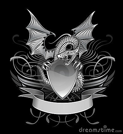 Free Mystery Winged Dragon Stock Images - 9348624