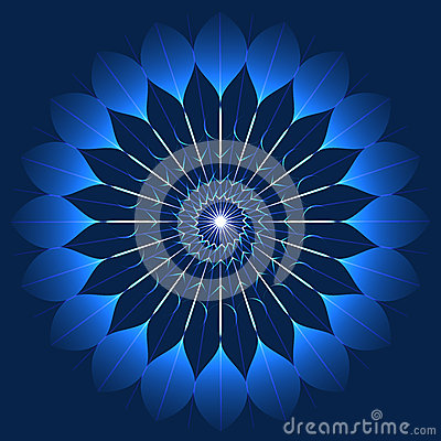 Free Mystic Blue Flower In Kaleidoscope Style Stock Photos - 52799223