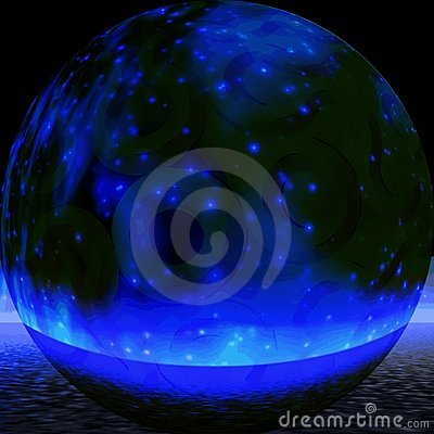 Mystic blue sphere