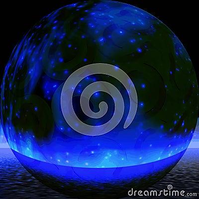 Mystic blue sphere