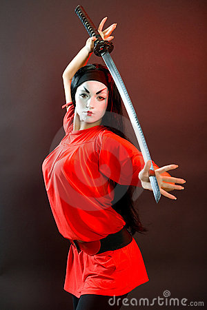 Free Mystic Girl With Sword. Royalty Free Stock Photos - 8964278