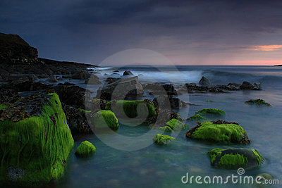 Mystic irish coastline