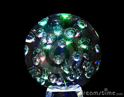 Mystic magic glass sphere ball.