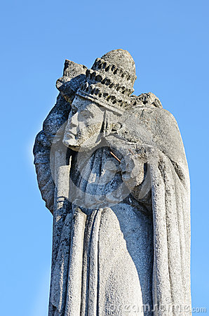 Free Mystic Old Stone Statue With Rolled Away Head On The Headstone I Royalty Free Stock Photography - 52339867