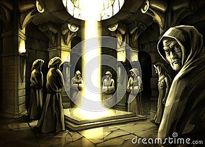 Mystic ritual (raster artwork by Oleksiy Tsuper)