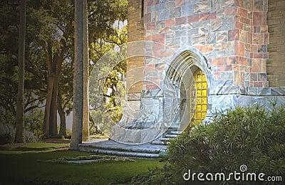 Mystical castle entrance