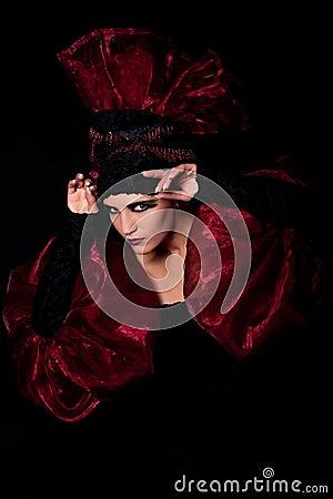 Mystical look femme fatale