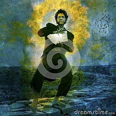 Free Mystical Man Royalty Free Stock Image - 18354106