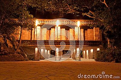 Mystical Mayan temple