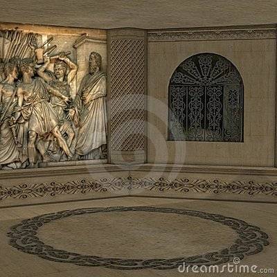Stock Photography: Mystical Ritual Room