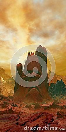 Free Mythic Volcano Stock Photos - 95627343