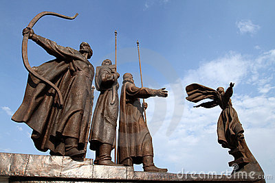 Mythical founders of Kiev on the Dnieper river