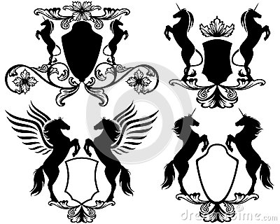 Mythical heraldry vector