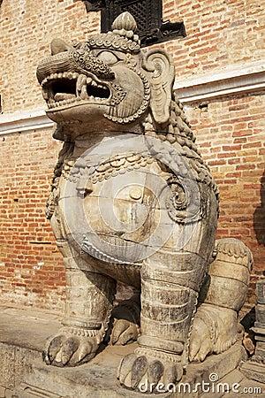 Mythical Lion, Bhaktapur, Nepal