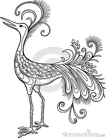 Mythological Bird Vector Illustration
