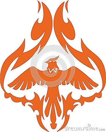 Mythological phoenix