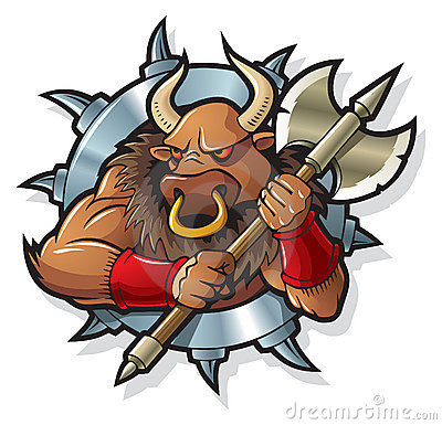 Free Myths: Minotaur Royalty Free Stock Photos - 10020158