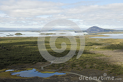 Myvatn lake in Iceland.