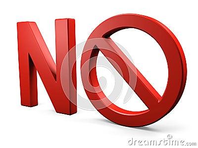 Não text NENHUM sinal proibido