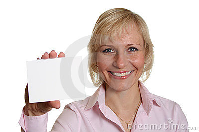 Nätt kvinna för kort