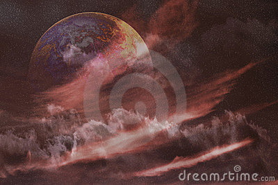 Nébuleuse de l espace de planète