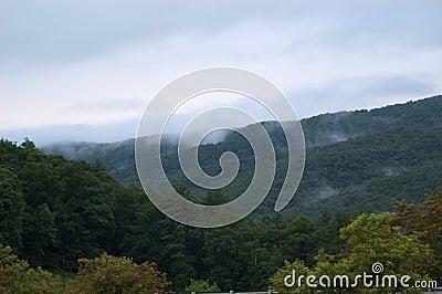Névoa nas montanhas