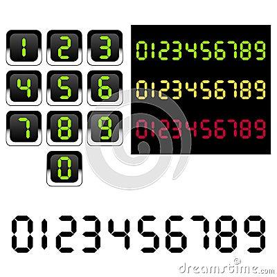 Números conduzidos Digitas