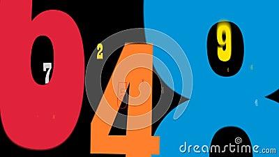 Números da transição das crianças ilustração do vetor