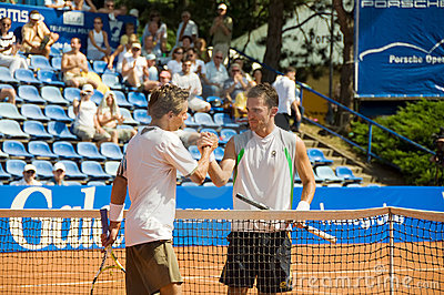 N.Devilder and A.Martin - Porsche Open 2008 Editorial Stock Image