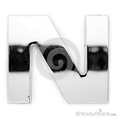 N - Metal letter
