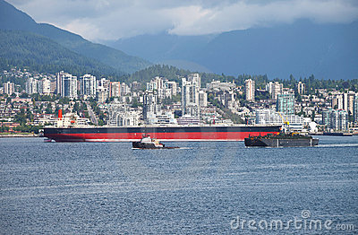 N.Vancouver a tanker & tug boat CA.