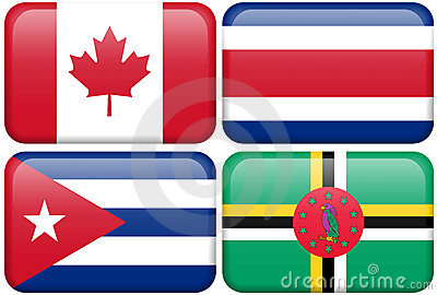 NA Buttons: Canada, Costa Rica, Cuba, Dominica